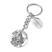 Saint Christopher Keyring with Engraving